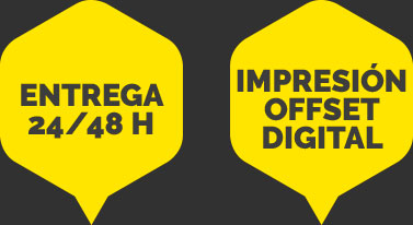 entrega 24-48-horas impresión offset digital